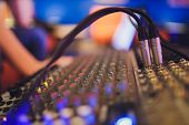 Mixing Console For Sound Producer. Music. Sound. Sound Controller. Directors Remote. poster