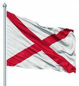 Waving Flag of USA state Alabama