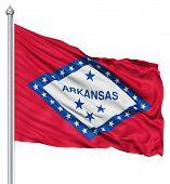 Waving Flag of USA state Arkansas