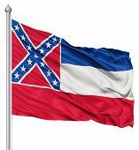 Waving Flag of USA state Mississippi