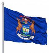 Waving Flag of USA state New York
