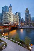 Chicago riverside.
