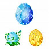 Vector Design Of Dinosaur And Magic Symbol. Set Of Dinosaur And Fantasy Stock Vector Illustration. poster