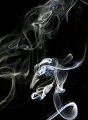 Smoke On A Dark Background.