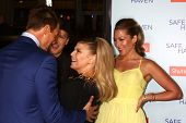 LOS ANGELES - FEB 5:  Josh Duhamel, Stacy Ferguson AKA Fergie arrives at the 'Safe Haven' Premiere a
