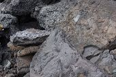 Detail, Rough Lava From Ancient Volcanic Eruption,