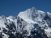 Majestic Mountain Peak In The Himalayas