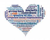 Corporate Social Responsibility in Wort-collage