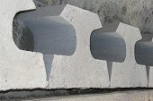 Speech Bubbles In Concrete
