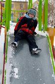 Child On Walk In Winter