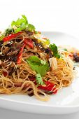 Chinese Cuisine - Crystal Noodles with Beef and Asparagus