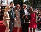 LOS ANGELES - JAN 12:  John Wells & cast of