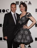 LOS ANGELES - NOV 12:  JONNY LEE MILLER & MICHELE HICKS arriving to MOCA Annual Gala 2011  on Novemb