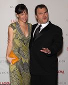 LOS ANGELES - NOV 5:  JACK BLACK & WIFE arriving to LACMA hosts Art + Film Gala 2011  on November 5,