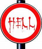Falsificar o sinal de tráfego do inferno