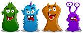 Conjunto de monstruos lindo tonto feliz