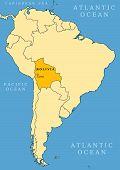 Mapa de localización de Bolivia