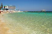 Beautiful beach in Famagusta in Cyprus