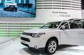 A New Mitsubishi Outlander Car On Display At 82nd Geneva International Motor Show