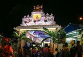 KUALA LUMPUR - JANUARY 26: Hindu devotees come to the Sri Thandayuthapani Temple in Kuala Lumpur, Ma