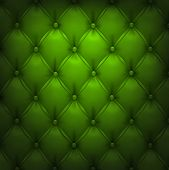 Vector illustration of green realistic upholstery leather pattern background. Eps10.