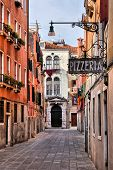 foto of quaint  - Quaint street in historic Venice - JPG