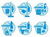 stock photo of bath sponge  - Set of icon cleaning on a white background - JPG