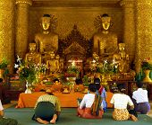 Worshippers In Temple.