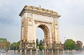 Triumph Arch - landmark in Bucharest, Romania.