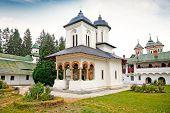 The old  Church at the Sinaia Monastery in Sinaia. Transylvania. Romania. poster