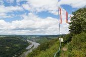 picture of moselle  - View from city Starkenburg over the Moselle valley - JPG