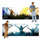 Concert. Vector banner