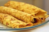 Pancakes with cheese filling