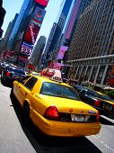 Taxi In Times Square