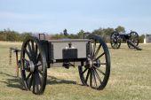 pic of rebs  - Cannon in position on Civil War Battlefields in Virginia - JPG