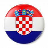 Croatia Pin-back