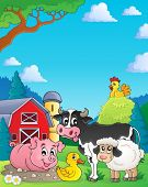 Farm animals theme image 4 - eps10 vector illustration.