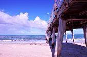 The Grange Jetty Pier Taken At Grange, South Australia On Sunny Summer Spring Day.