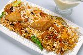 picture of raita  - A fresh, hot and spicy Chicken Biryani wit salad & raita ** Note: Soft Focus at 100%, best at smaller sizes - JPG