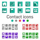 Contact Icons with long shadow