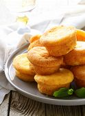cheese mini muffins with pumpkin and orange