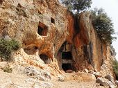 Rock tombs in Kyaneai.
