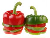 Green And Red Piece Bell Peppers
