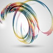 Abstract background with a decorative swirl design