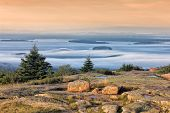 Mountaintop Sunset in Acadia