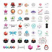 Large Collection Of Vector Icons Jewelry, Gold Jewelry
