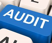 foto of financial audit  - Audit Key Showing Auditor Validation Or Inspection - JPG
