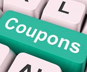 Coupons Key Means Voucher Or Slip.