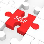 Self Puzzle Shows Me My Yourself Or Myself