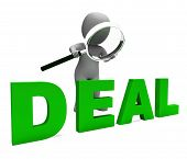 Deal Character Shows Deals Trade Contract Or Dealing.